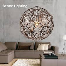 Steel Pendant Lights Etch Light Web D60cm Gold Copper Led Stainless Steel Pendant