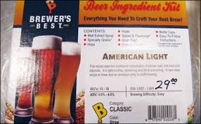what was the first light beer brewer s best kit