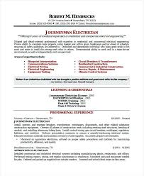 resume samples for electricians electrician journeyman resume