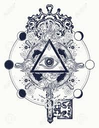 masonic eye and key tattoo symbols freemason and spiritual