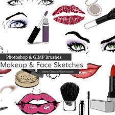 makeup u0026 face sketches photoshop u0026 gimp brushes obsidian dawn