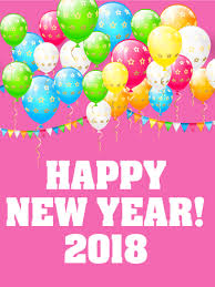 happy new year balloon cheerful new year card 2018 celebrate the new year in style