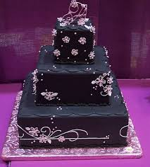 black wedding cakes design food and drink