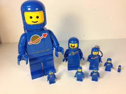 lego blue spaceman minifigure led lite big benny lego