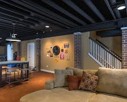 contemporary basement ceiling options basement pinterest
