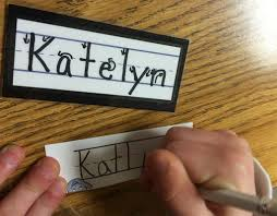 kindergarten friendly handwriting by nellie edge