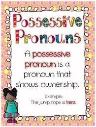 51 best possessive pronouns images on pinterest pronoun