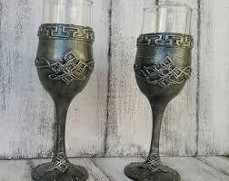 wedding goblets decorated flute etsy