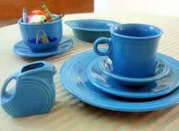 peacock blue fiestaware dinnerware from homer laughlin