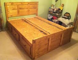 bed frames how to build a queen size bed platform bed frame