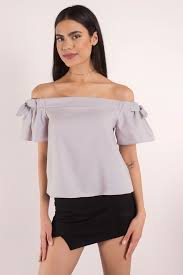 Shoulder Top - grey going out top shoulder top grey going out top 42