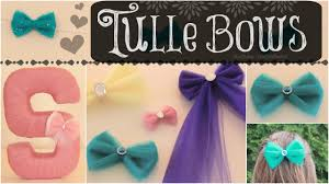 tulle hair bows diy tulle hair bows room decor no sew bow how to