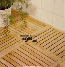 molger decking shown in ikea catalog as flooring in a bath easy