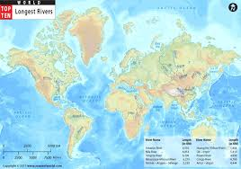 world map mountains rivers deserts rivers in the world top ten