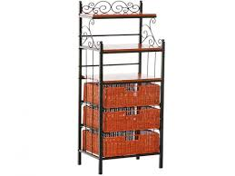 Charleston Forge Bakers Rack Bakers Rack Oak And Wrought Iron Bakers Rack With Drawers Bakers