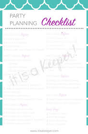 printable party planner checklist party planning checklist printable it is a keeper