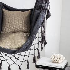hammock chair charcoal french provincial hanging u2013 ivory u0026 deene