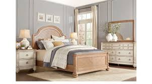french cottage bedroom furniture french cottage natural cream 7 pc queen panel bedroom traditional