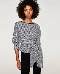 criss cross blouse blouse with criss cross back and faux pearls blouses zara
