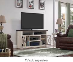 bell u0027o rustic two tone av stand for most tvs up to 65