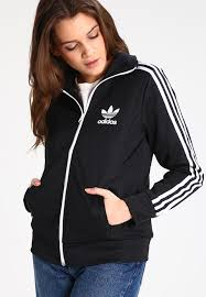 adidas performance prime tracksuit top black ray red womenclothing