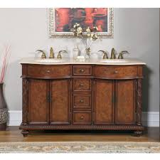 kitchen double vanity with makeup station 60 inch double sink