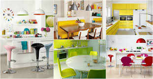 cheerful bright colored kitchen ideas
