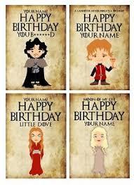of thrones birthday card personalised of thrones inspired birthday card 4 designs ebay