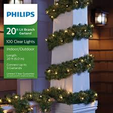 philips 20ft prelit artificial pine garland clear lights