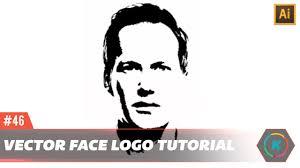 illustrator tutorial vectorize image vector face logo effect tutorial adobe illustrator tutorial youtube