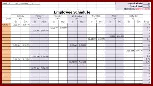 Staffing Schedule Template Excel 28 Employee Schedule Templates 4 Employee Work Schedule