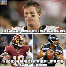Seahawks Lose Meme - russell wilson s playoff wins 1 matt ryan s playoff wins 0