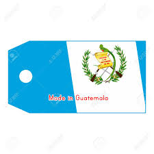 Guatemala Flag Guatemala Flag On Price Tag With Word Made In Guatemala Isolated