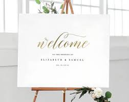 wedding signs template wedding sign etsy