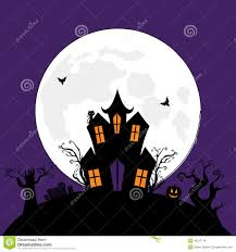 halloween cat silhouette background halloween spooky house stock vector image 43017114