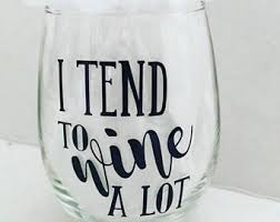 statement wine glass etsy