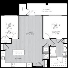 One Bedroom And A Den One Bedroom Apartment With Den In Orlando Fl Alexan Crossroads