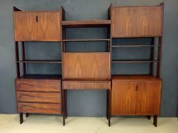 danish modern rosewood modular wall unit retrocraft design
