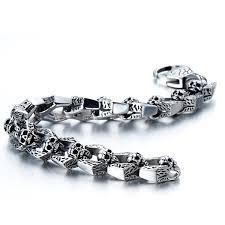 bracelet skull images Biker bracelet gothic skull stainless steel bracelet jpg