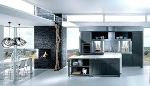 cuisine murale deco mur de cuisine cuisine grise moderne avec ilot central