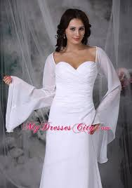 sweetheart high low wedding reception dress with long sleeves