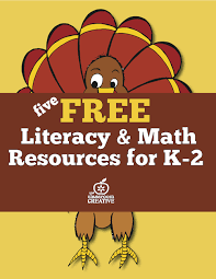 5 free thanksgiving math literacy and activities for k 2