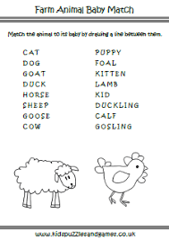 farm animal baby matching kids puzzles and games