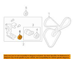 hyundai oem 11 14 sonata serpentine drive belt idler pulley