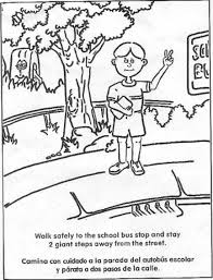 download coloring pages bus safety coloring pages