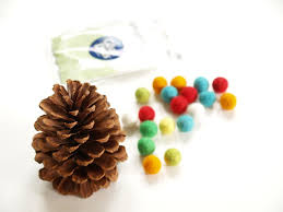 felted wool and pine cone christmas tree diy tutorial the magic