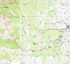 Map Of Yellowstone National Park Topographic Map Of The Sepulcher Mountain And Snow Pass Trails