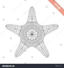 vector illustration cartoon starfish doodle ornament stock vector