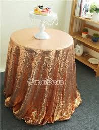 sparkly drape 225cm round tablecloth rose gold tablecloth sequin