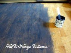 yes you can paint an laminate floor painting laminate